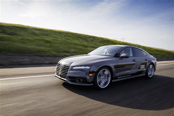 The Audi A7 used to drive journalists from San Francisco to Las Vegas for the Consumer Electronics Show
